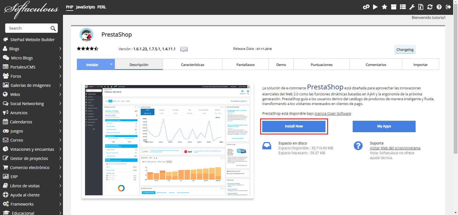 Instalar PrestaShop Hostingbigmaker 2