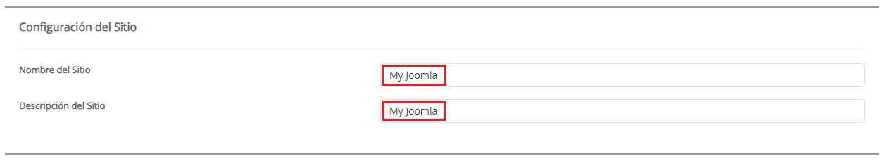 Nombre y descripción Joomla hostingbigmaker
